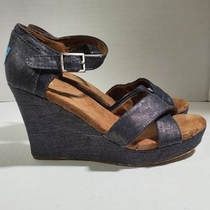 Tom's wedge sandals, Size 7.5